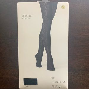 A New Day Fashion Tights Ebony/Black M/L